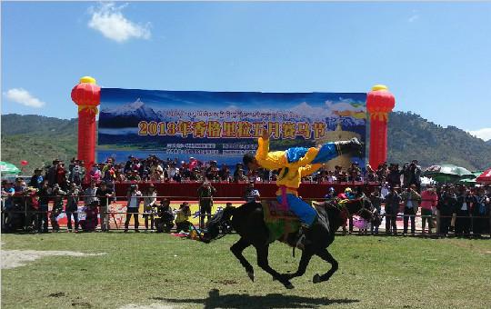 2013年香格里拉端阳赛马节在云南省迪庆开幕
