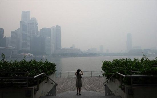 新加坡雾霾导致旅游景点歇业