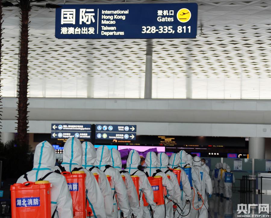 武汉天河机场已全面消杀,为机场全面复航做好准备