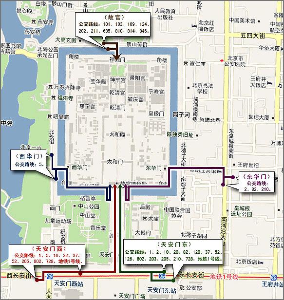 北京北海公园白塔寺平面图