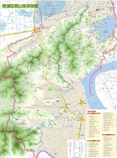 西湖区西山旅游地图