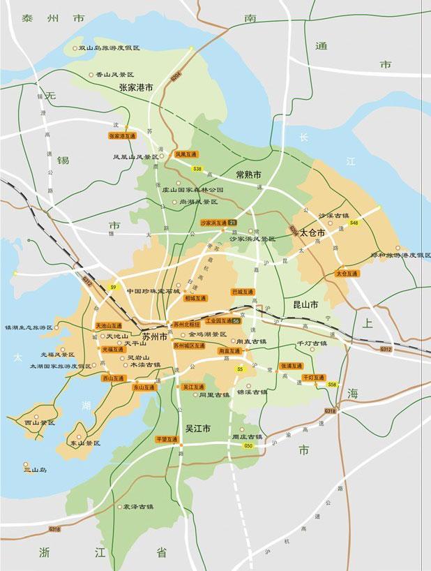 苏州木渎古镇旅游地图