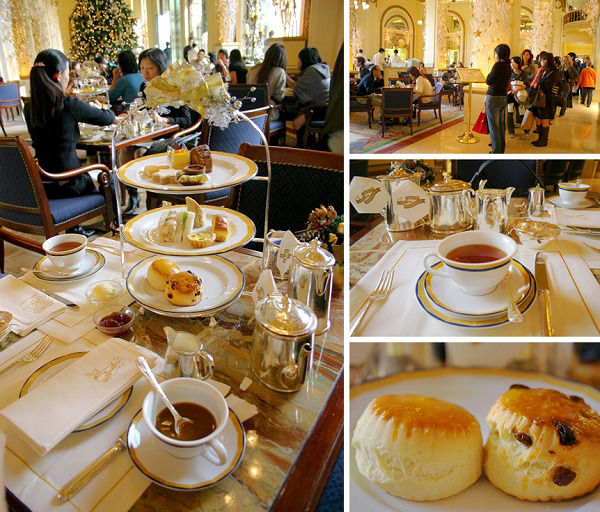 下午茶由三样东西组成:一是正宗的英式茶与茶点;二是半岛大堂茶座